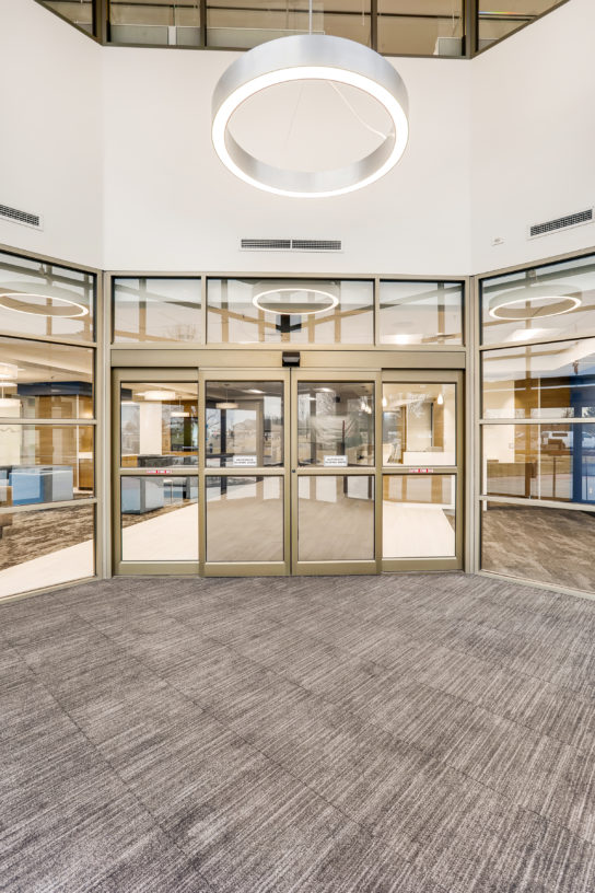 Construction project completed by HC Company - Lobby - Blue Cross