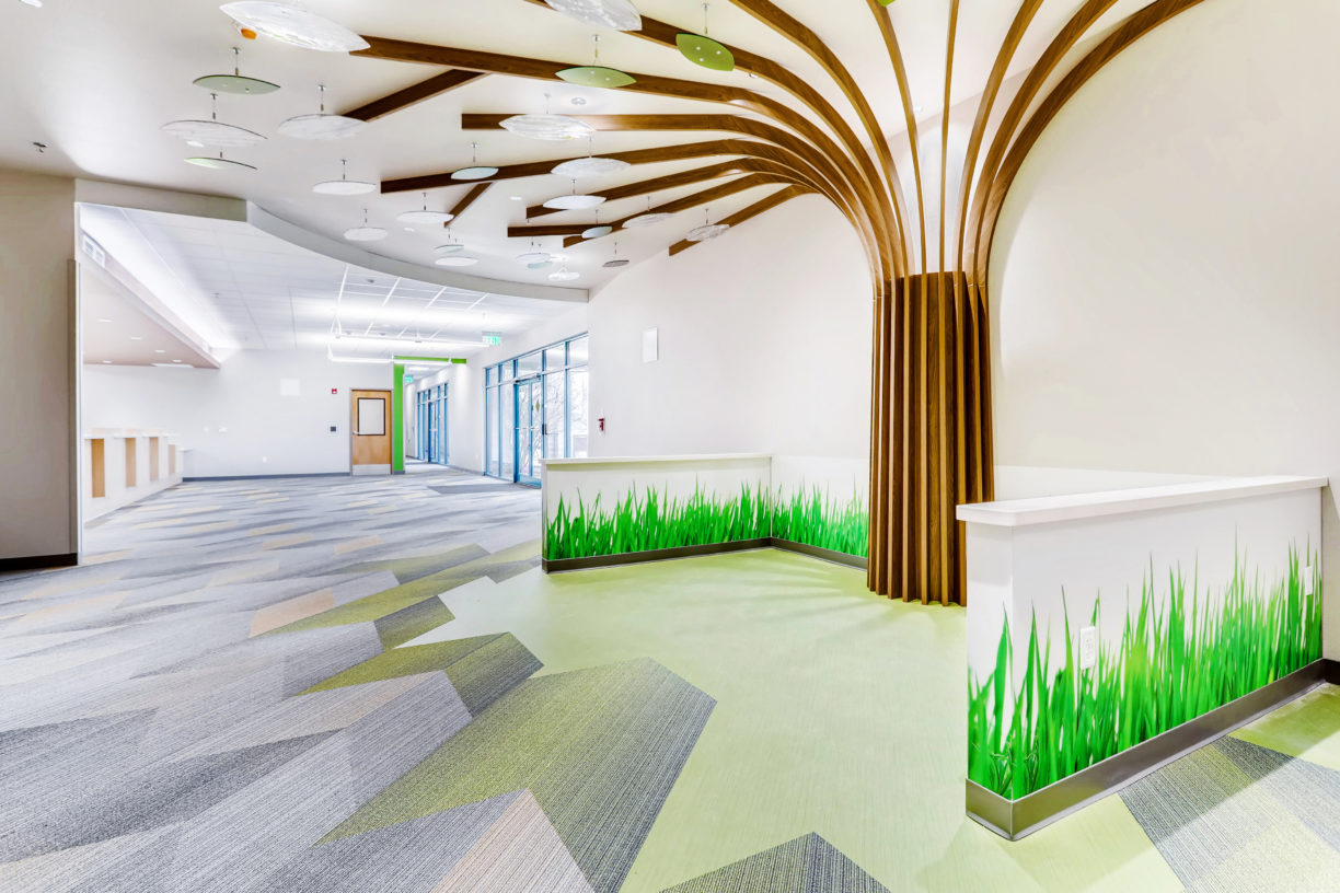 Lobby and children's area health clinic