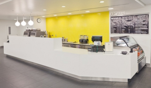Customer Counter at Corporate Coffee Shop