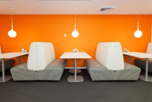 Seating area at Corporate Coffee Shop