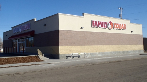 Construction project completed by HC Company - side view of Family Dollar