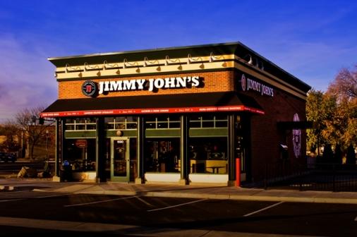 Evening shot of Jimmy John's