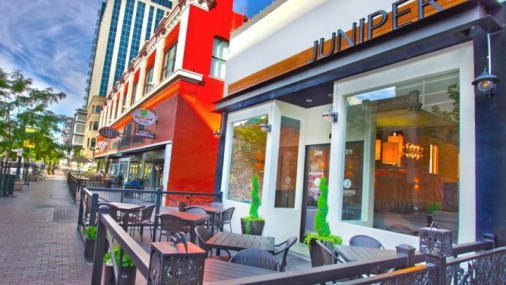 Construction project completed by HC Company - Exterior of Juniper Restaurant