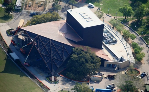 Aerial view of Miller Outdoor Theatre