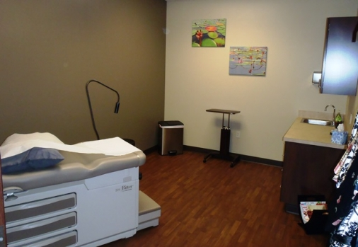 Exam room at Simply Women's Health
