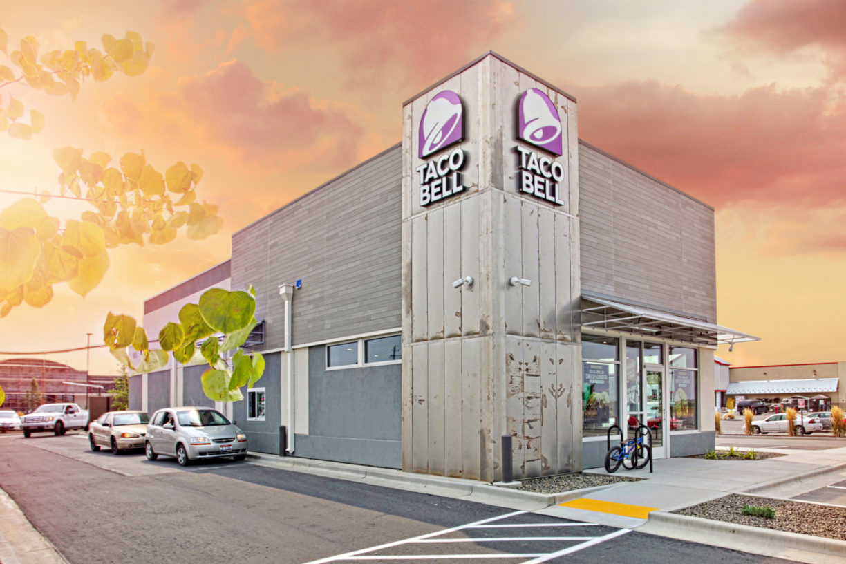Taco Bell Construction project completed by HC Company - Exterior View