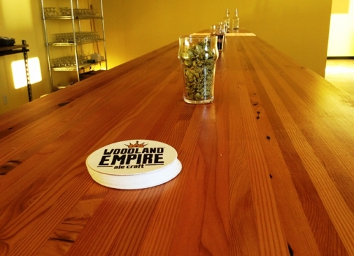 Counter of Woodland Empire Ale Craft Construction Project